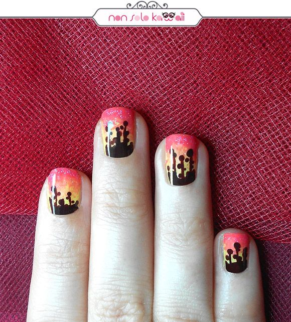Sunset Dandelion, Orly Hope & Freedom Fest. Nail Art by NonSoloKawaii.com