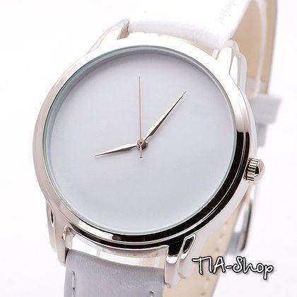 """Наручные часы """"Белые"""", Часы в Минималистичном Стиле, Минимализм - белый"""
