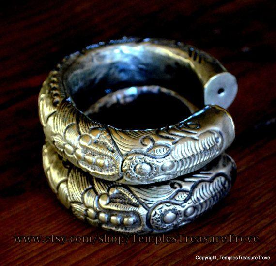 Vintage High Grade Miao Silver Ornate Hollow Cuff Bracelet Handcrafted Cuff Bracelet Tribal Unisex Bracelet Cuff by TemplesTreasureTrove