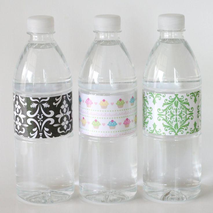 27 best bottle labels images on pinterest free for Buy water bottle labels