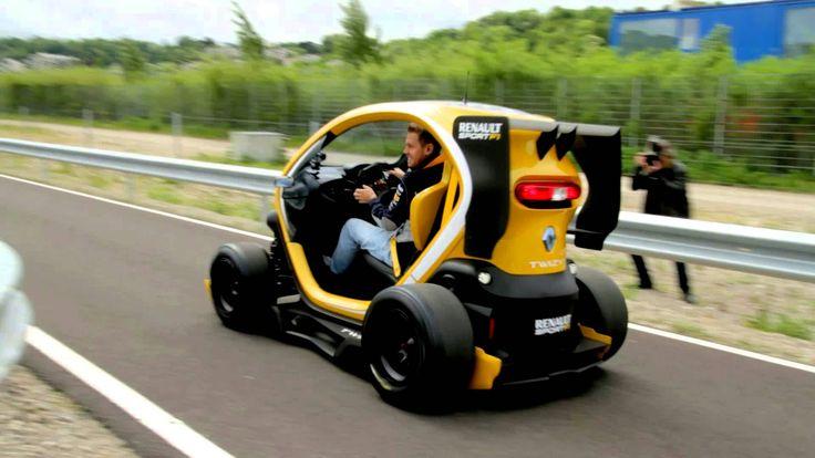 Sebastian Vettel and Twizy Renault Sport F1