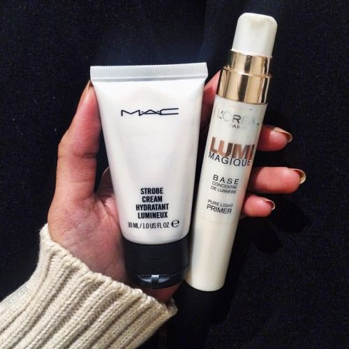 These two are dupes that provide a boost of radiance to my dull and tired skin. Funny thing is, the high end one is the cheaper alternative. MAC strobe cream (travel size) is only $15 with 30ml worth of product whilst the Loreal LUMI magique is $30 for 20 ml. Mind blowing right?! Keep in mind that they are two different things (one being a primer and the other a moisturiser) that give the same finish: A dewy glowing look ✨ by solismicahx http://ift.tt/1QD9BcV