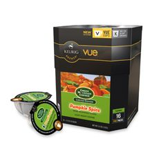 Vue Pack Green Mountain Coffee Pumpkin Spice Coffee for Keurig Vue Brewers $11.99 (www.bedbathandbeyond.com or keurig.com)