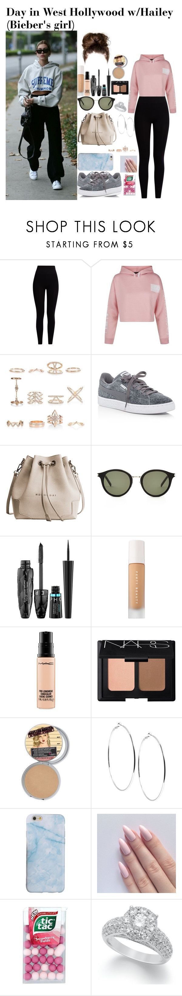 """""""Day in West Hollywood w/Hailey(Bieber's Girl)"""" by tatabranquinha ❤ liked on Polyvore featuring beauty, Pepper & Mayne, New Look, Puma, Yves Saint Laurent, Sephora Collection, MAC Cosmetics, NARS Cosmetics, GUESS and haileybaldwin"""