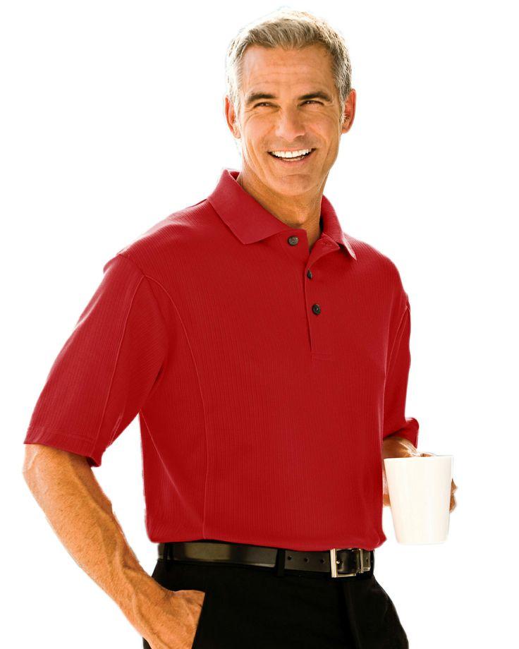 Ultracool Vertical Striped Jacquard Golf Shirt (Cotton/Poly) Tri mountain 428