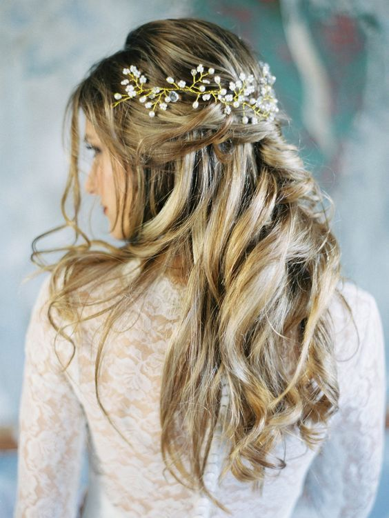 17 Best Ideas About Wedding Hair Half On Pinterest