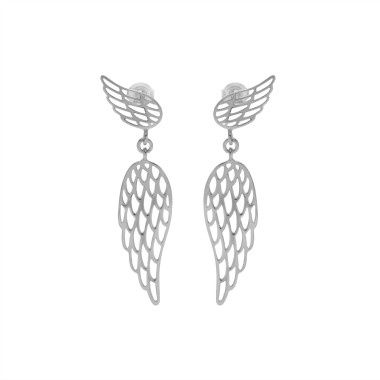 The pending Wings earrings, jewellery to wear on a special occasion. Chic and original. Available in gold-plated and silver #lilou #earrings #wing #chic #original #pending
