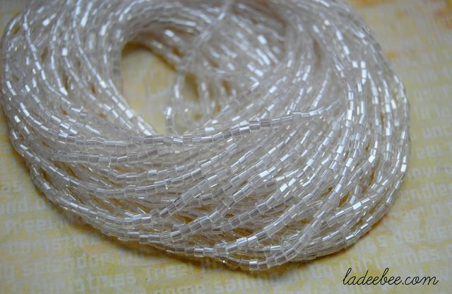 Hank of Clear Transparent 2mm Bugle Beads. Starting at $1 on Tophatter.com!