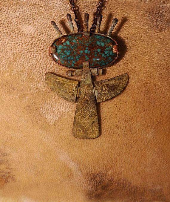 Angel necklace Talisman Shaman Necklace by shamanstones on Etsy