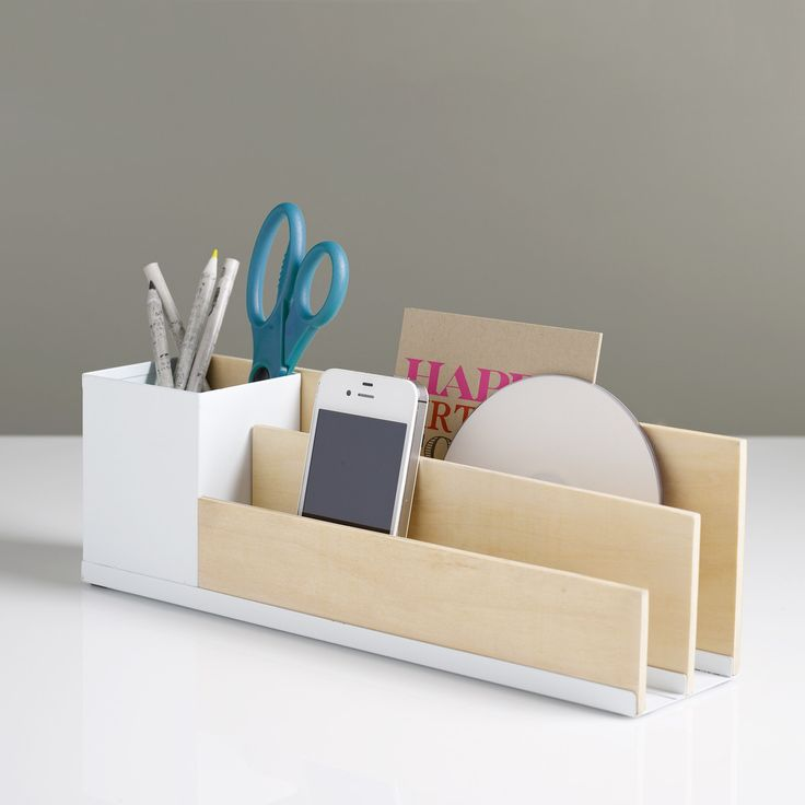 Diy inspiration desk organizer use balsa wood or - Designer desk accessories and organizers ...