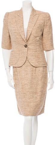 Oscar de la Renta Tweed Skirt Suit