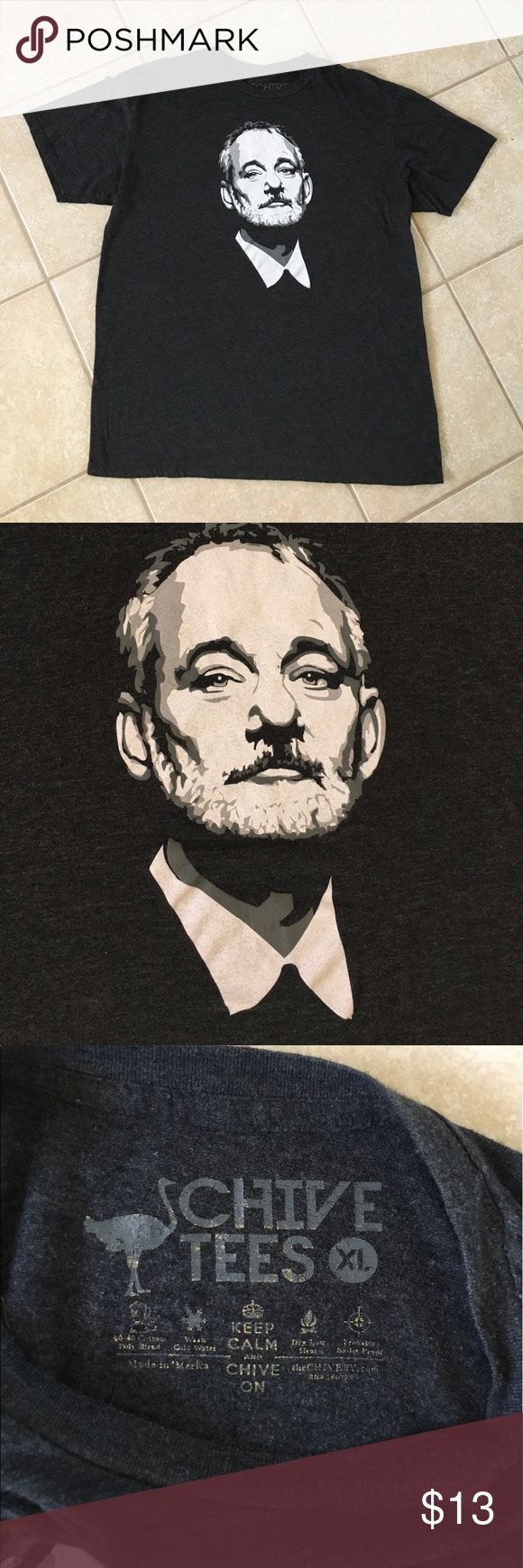 Bill Murray Chive Tee Dark gray short sleeve tee from the Chive with the Bill F*cking Murray graphic. Worn a handful of times, in EUC. Comes from smoke free home. *Brand tagged for exposure Fifth Sun Shirts Tees - Short Sleeve