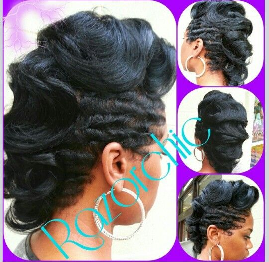 Natural Hair Finger Waves Bob