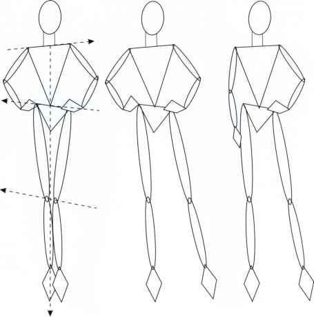 Moda Figura Diferentes Poses