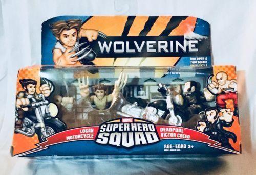 NIB Marvel Super Hero Squad Wolverine Logan Motorcycle Deadpool Victor – Antique Alchemy