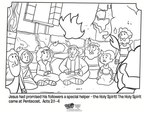 pentecost bible coloring pages