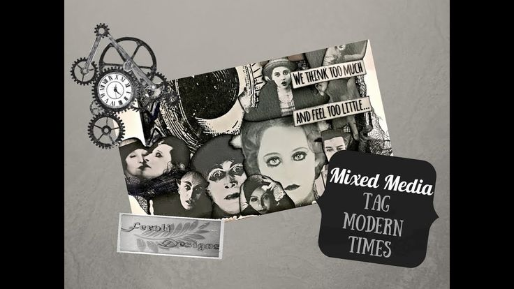 "DIY Tutorial: Mixed media Tag ""Modern Times"" - Fernli Designs DT project..."