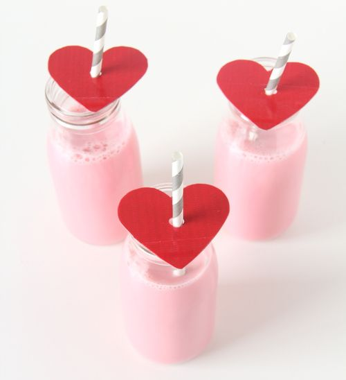 Valentine party straws, for strawberry smoothies...or strawberry margaritas