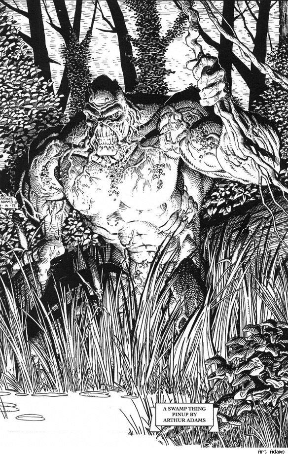 swamp monster coloring pages | 35 best images about Arthur Adams ♥ on Pinterest | Comic ...