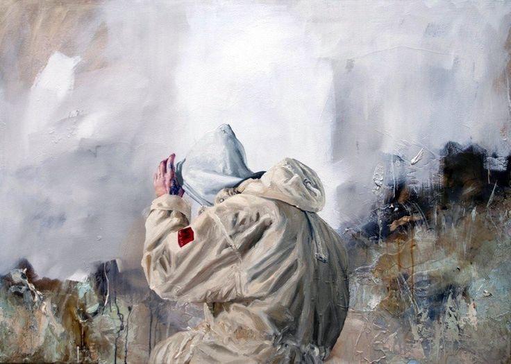 Arsenale, original Big Canvas Painting by Chris Stevens