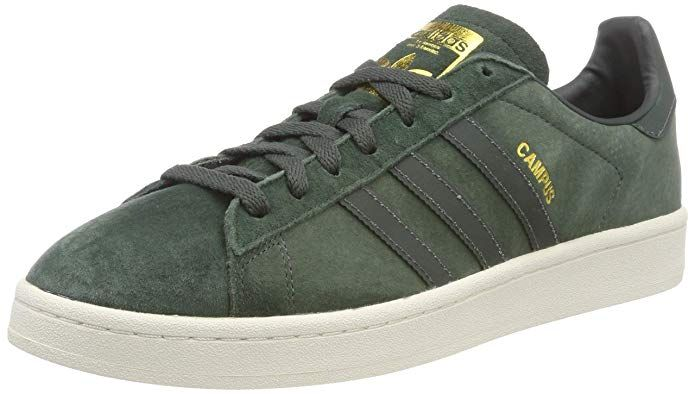 Adidas Campus Schuhe Herren grün mit grauen Streifen