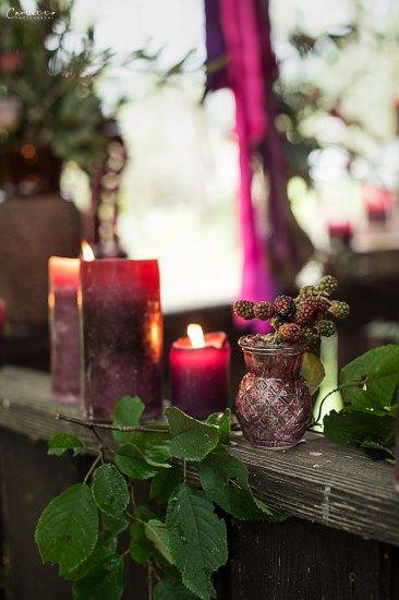 Herbst, violett, pruple decoration, fall, floral deoration, fall decor, floral garland, fall leaves, candles