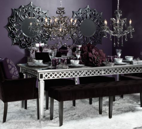 Sophie mirrored dining table from z gallerie dining room for Z gallerie living room inspiration