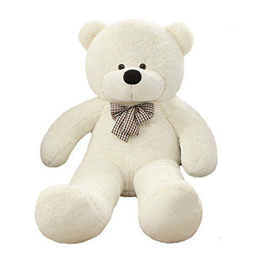 VERCART Jouet Enfant Grand Nounours Souriant 47 inches Géant Ours en Peluche Teddy Bear Blanc 120CM: Peluche en 100% Polyester Un bon…