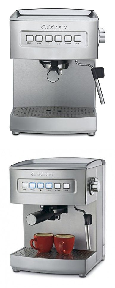 Cuisinart Em 200 Programmable 15 Bar Espresso Maker Stainless Steel Automatic Machine