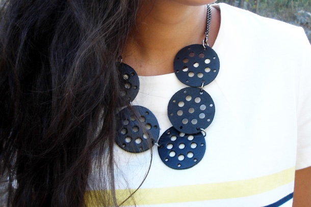 Leather handmade necklace
