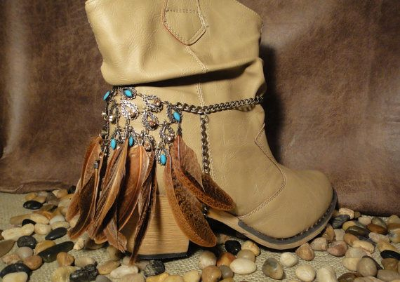NATIVE AMERICAN styled boot jewelry to add texture and beauty to your boots!  Tribal, unique, gorgeous to say the least! 35.00
