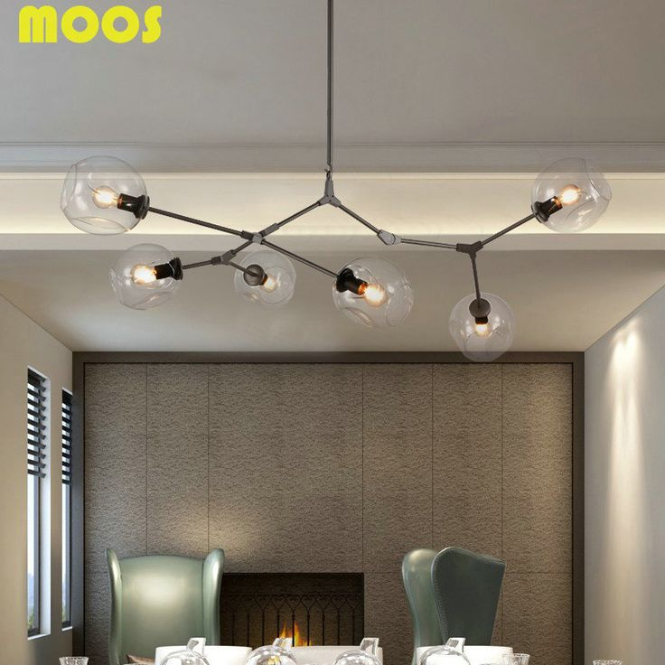 6 Lamps Modern LED Glass Bubble Chandeliers Lighting For Home LIving Room Luminaria Abajur Lustre
