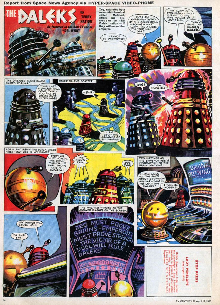 Dalek v's Dalek (1965) Dalek, Doctor who magazine, Geek