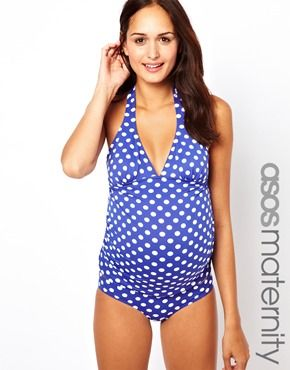 Image 1 of ASOS Maternity Exclusive Tankini Top in Spot