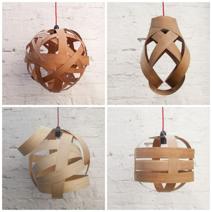 Objects of Design - wooden lampshades