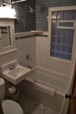 Glass Subway Tile Bathroom Ideas | Subway Tile Glass Block Window Design Ideas, Pictures, Remodel, and ...