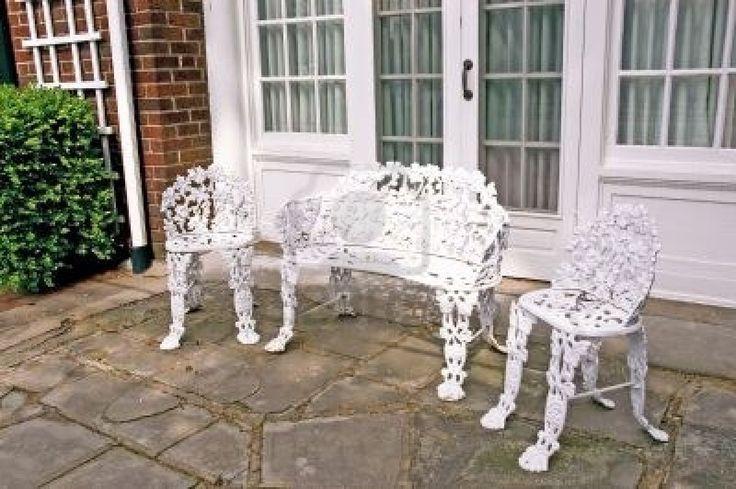 White Wrought Iron Patio Furniture Sets