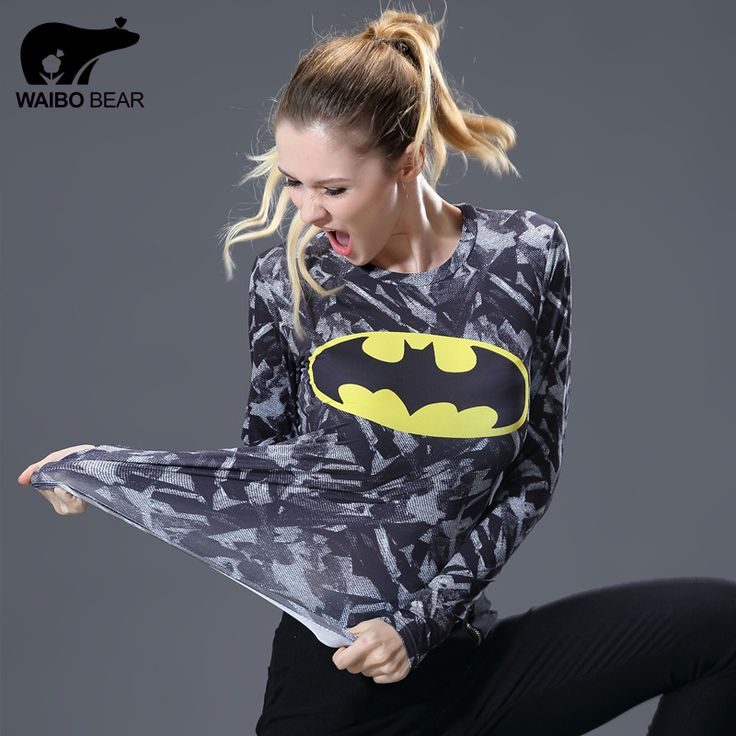 >> Click to Buy << 2017 Marvel Women T-shirt Superman Captain America Printed Gentle Long Sleeve Ladies Fitness Tights Funny Compression Shirt #Affiliate