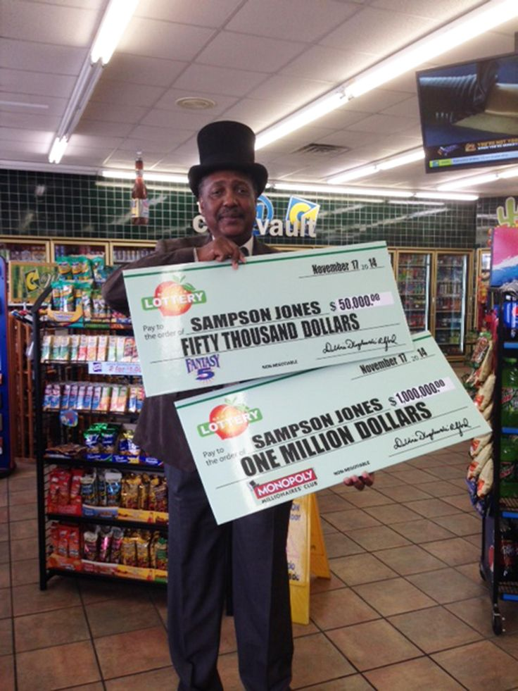 A lucky lottery winner holds a monopoly