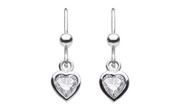Sterling Silver Heart Shaped Crystal Strobe by SilverButtercups