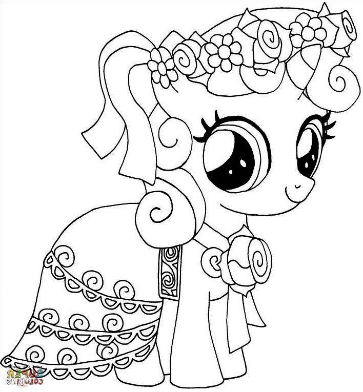Mewarnai Gambar My Little Pony Yang Cantik My Little Pony Buku Mewarnai Warna