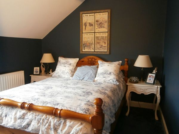 The Finished Article Bedding By Ikea Walls Painted In Dulux Breton Blue Bedroom Wall