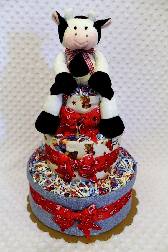 Baby Diaper Cakes Country Farm Shower Gift by Diannasdiapercakes, $58.00