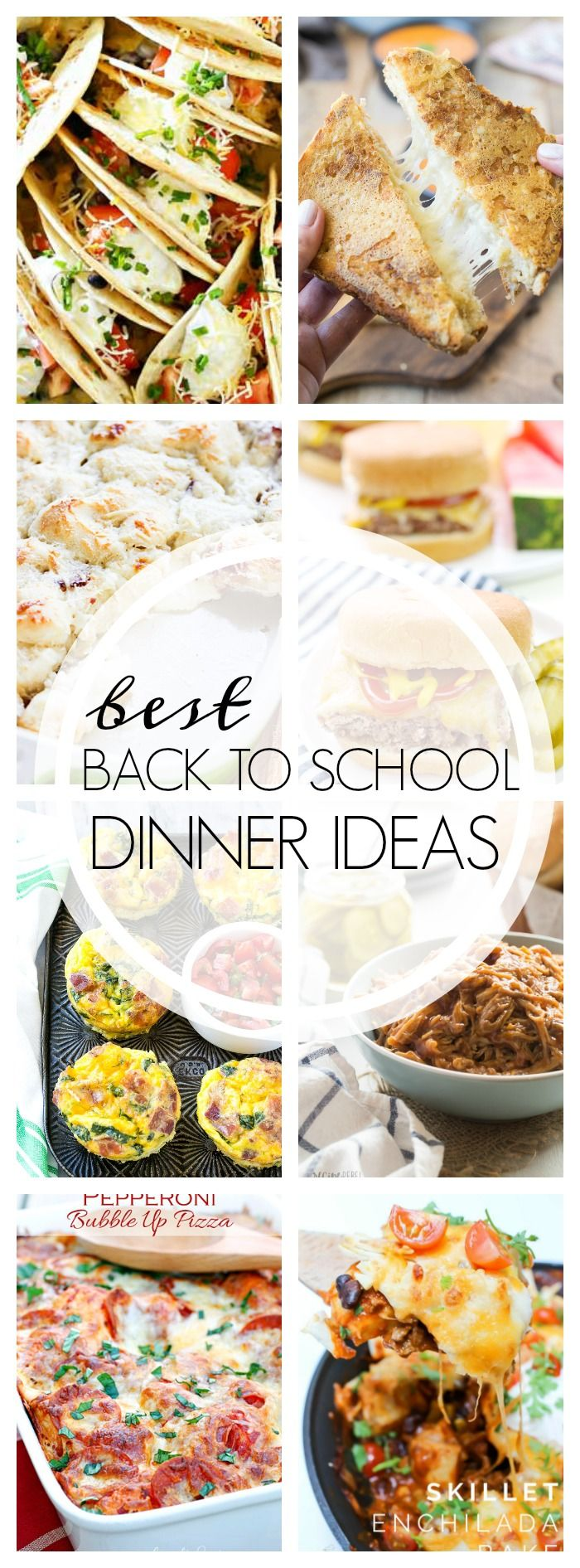 We have put together this collection of the best Back to School Dinner Ideas that the whole family will love. Be sure to pin this because you'll need!