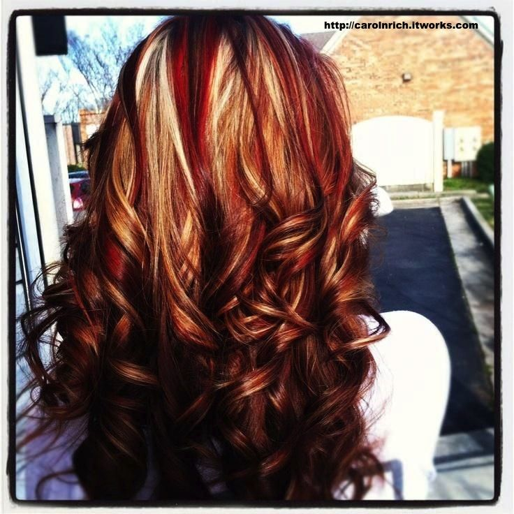 Brown Base With Red White And Carmel Highlights I M