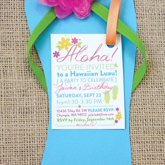 explore luau party invitations