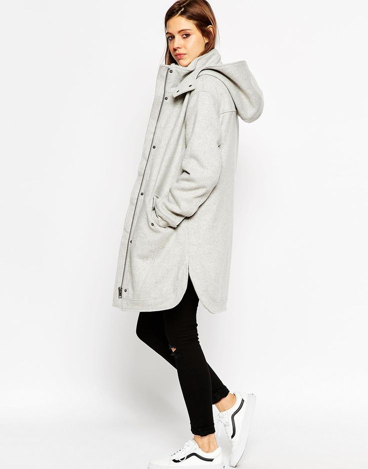 Image 4 of ASOS Parka with Curved Hem