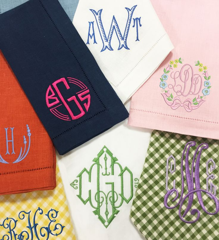 We LOVE these new monogram options! The possibilities are endless! Only at…