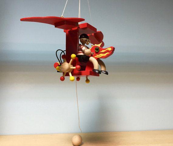Dragonplane wooden mobilehanging mobileplane decornursery