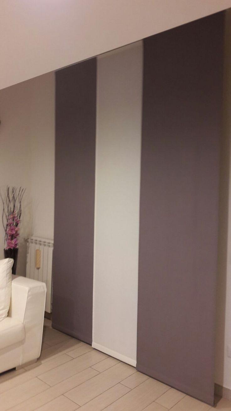 tende a pannello per sala in tessuto coprente con colori a contrasto